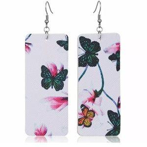 Jewelry - 🦋🌿Genuine leather earrings 🦋
